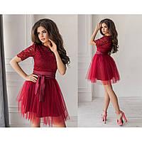 Платье вечернее женское Тукс 2119 бордовое
