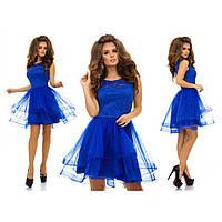 Нарядное платье женское с фатином №7211