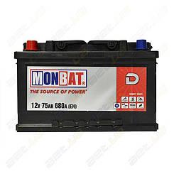 Аккумулятор Monbat D 75Ah L+ 680A