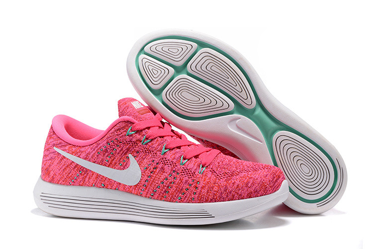 Женские кроссовки Nike Lunarepic Low Flyknit Pink (Найк розовые для бега/спорта) 36,37,38