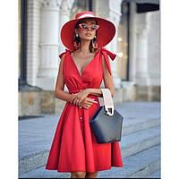 Женское красивое платье с завязками на плече 34491