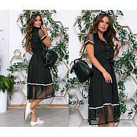 Летнее платье женское с поясом 403800