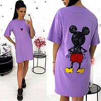 Платье футболка женское летнее 331359