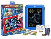 Оригинал! Планшет для рисования + Световая ручка в подарок! Magic Pad 3D Рисуем светом (NO746)