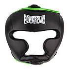 Боксерський шолом тренувальний PowerPlay 3068 S Чорно-Зелений (PP_3068_S_Black/Green), фото 4