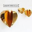 3D гирлянда из зеркальных сердечек красная (2 метра), фото 3