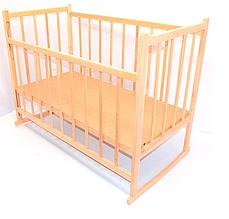 Детская кроватка-качалка деревянная №3 бортик опускается