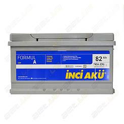 Аккумулятор автомобильный INCI-AKU Formul A 82Ah R+ 740A (низкобазовый)