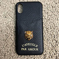 Gucci iPhone X Case GG Marmont Tiger Black