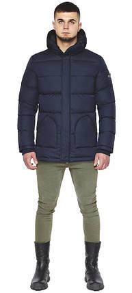Зимова куртка темно-синя чоловіча зручного фасону модель 27544 розмір 46 (S), фото 2