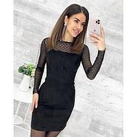 Платье красивое женское замшевое 5185