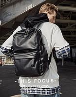 Крутой рюкзак с usb j3. Кожаная сумка. Мужской рюкзак кожа. Портфель для ноутбука. С11, фото 1