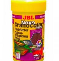 Корм сухой  для рыб JBL NovoGranoColor mini 100 г гранулы для мелких рыб