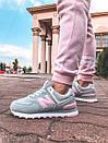 Женские кроссовки New Balance 574 Gray/Pink, популярная модель, фото 8