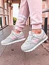 Женские кроссовки New Balance 574 Gray/Pink, популярная модель, фото 9