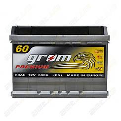 Аккумулятор Grom Premium 60Ah R+ 600A (низкобазовый)