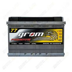 Автомобильный аккумулятор Grom Premium 77Ah R+ 760A