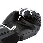 Боксерські рукавиці PowerPlay 3010 10 унцій Чорно-Білі (PP_3010_10oz_Black/White), фото 6