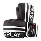 Боксерські рукавиці PowerPlay 3010 10 унцій Чорно-Білі (PP_3010_10oz_Black/White), фото 7