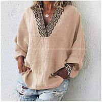 Блуза женская с кружевом 41492 р 42-60