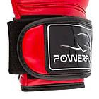 Боксерські рукавиці PowerPlay 3017 карбон 8 унцій Червоні (PP_3017_8oz_Red), фото 7