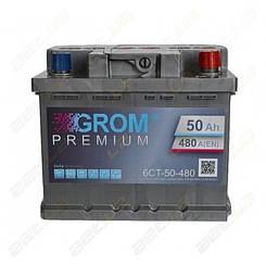 Аккумулятор Grom 50Ah R+ 480A (низкобазовый)