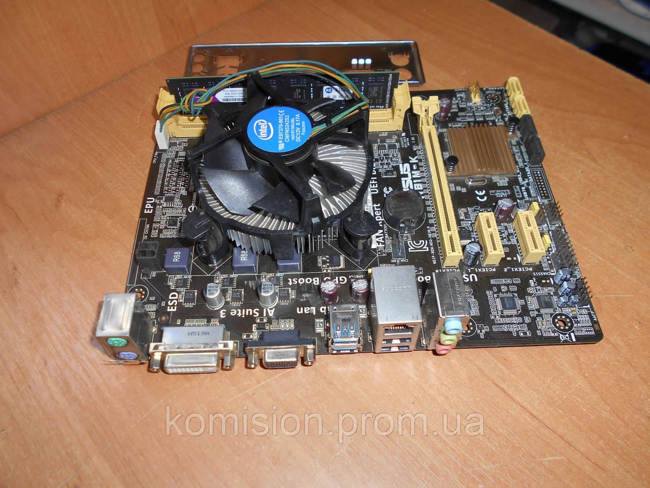 Материнская плата ASUS H81M-K s1150 + Core i3-4160 3,6 GHz + ОЗУ 4 Gb