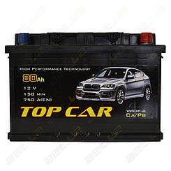 Аккумулятор TOP CAR 80Ah R+ 750A
