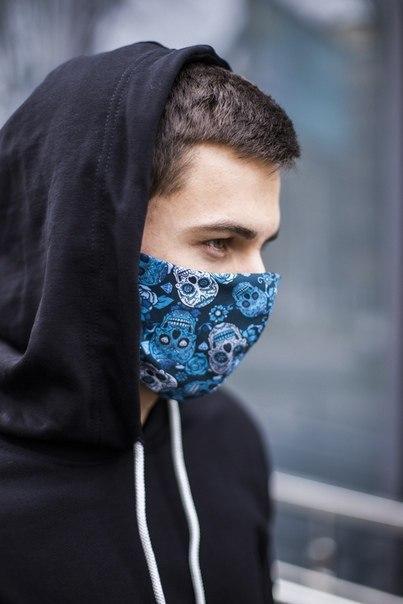 Комплект из 5 защитных дышащих масок (принтованые)