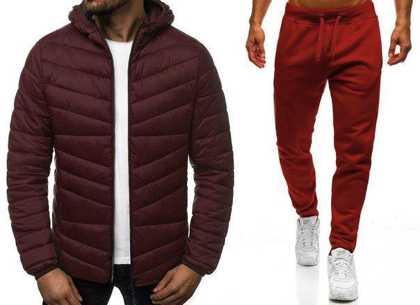 Весенний стильный мужской комплект: куртка и штаны