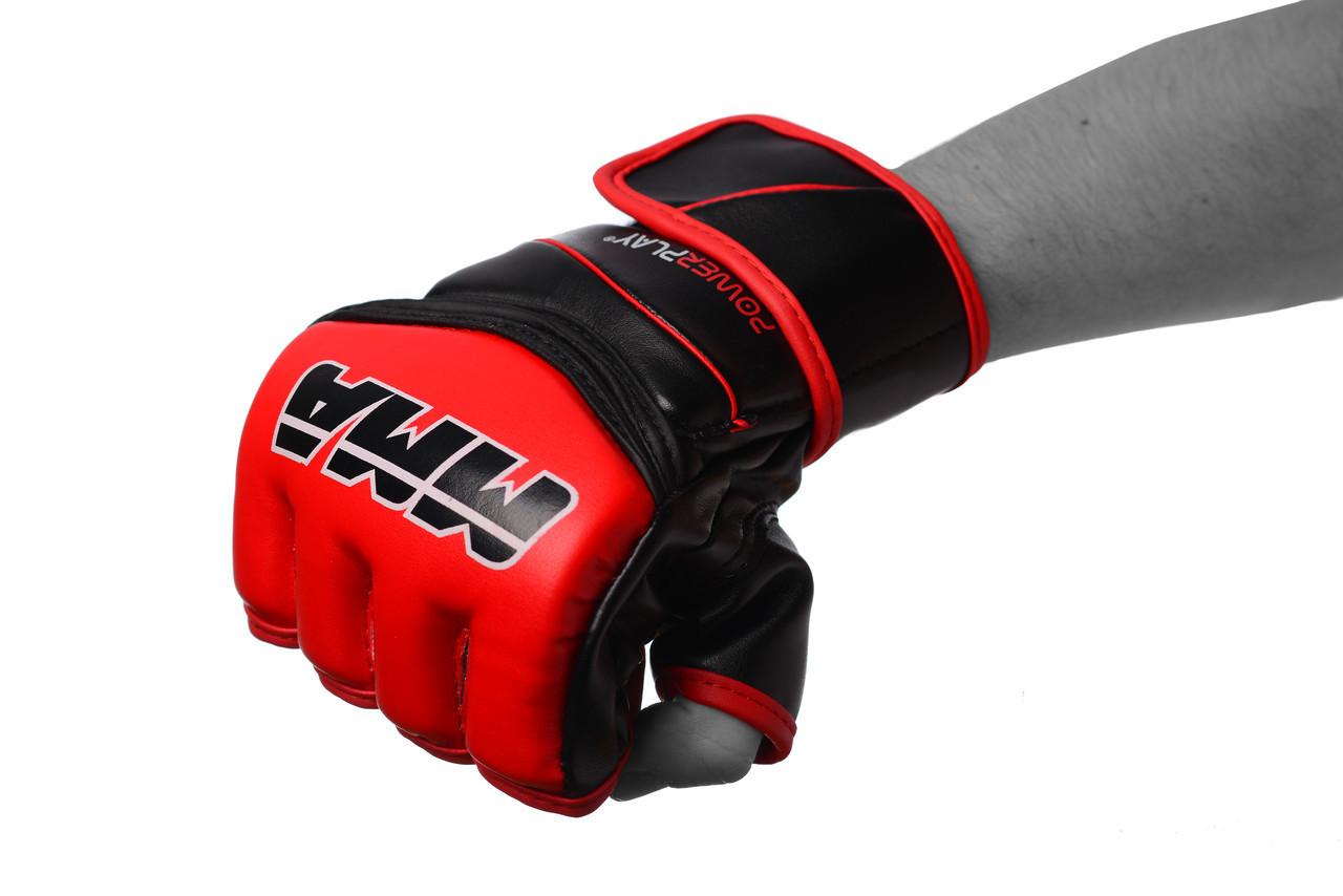 Рукавички для MMA PowerPlay 3055 Червоно-чорні XL (PP_3055_XL_Red)