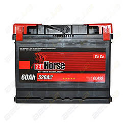 Аккумулятор RedHorse 60Ah L+ 520A