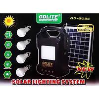 GDLite GD-8025 Освещение Kit с солнечной панели для зарядки фонарика, FM-радио, MP3