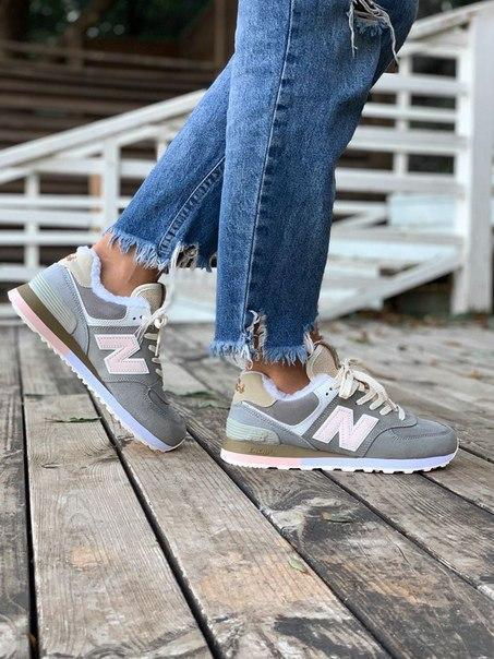 Женские кроссовки New Balance 574 из замша, 4 цвета