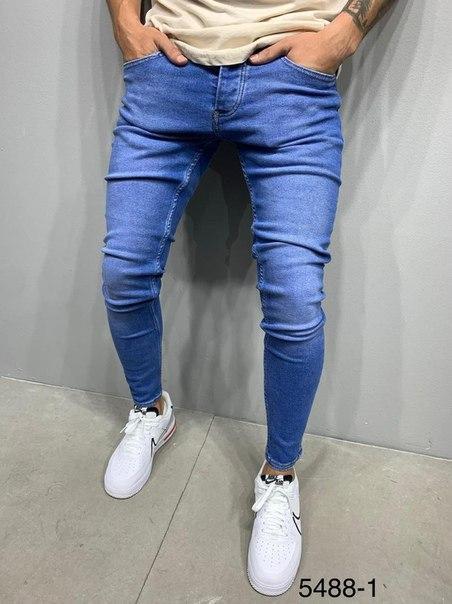 Мужские зауженные джинсы, демисезонные