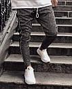 Мужские жаккардовые зауженные штаны, фото 3