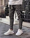 Мужские жаккардовые зауженные штаны, фото 4