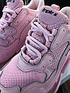 Кожаные женские кроссовки Balenciaga Triple S 2.0 Pink Air Sole, фото 5