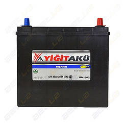 Аккумулятор Yigit Aku 45Ah JR+ 360A (тонкая клемма)