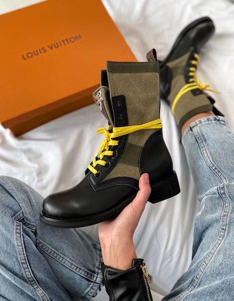 Женские высокие ботинки LV Metropolis Ranger Boots