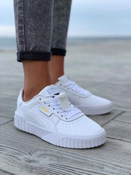 Кожаные женские кроссовки Puma, два цвета