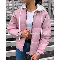 Модная куртка женская с капюшоном 36601