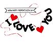 """Гирлянда из фетра """"I love you"""", фото 3"""