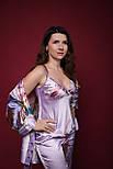 Домашній комплект (халат, майка, штани) Наталі, фото 2