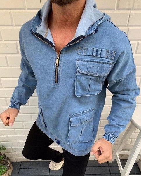 Мужской джинсовый анорак