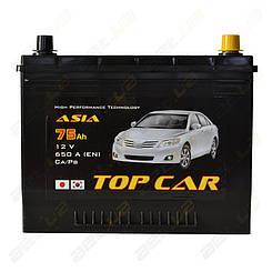 Аккумулятор TOP CAR Asia 75Ah JR+ 650A