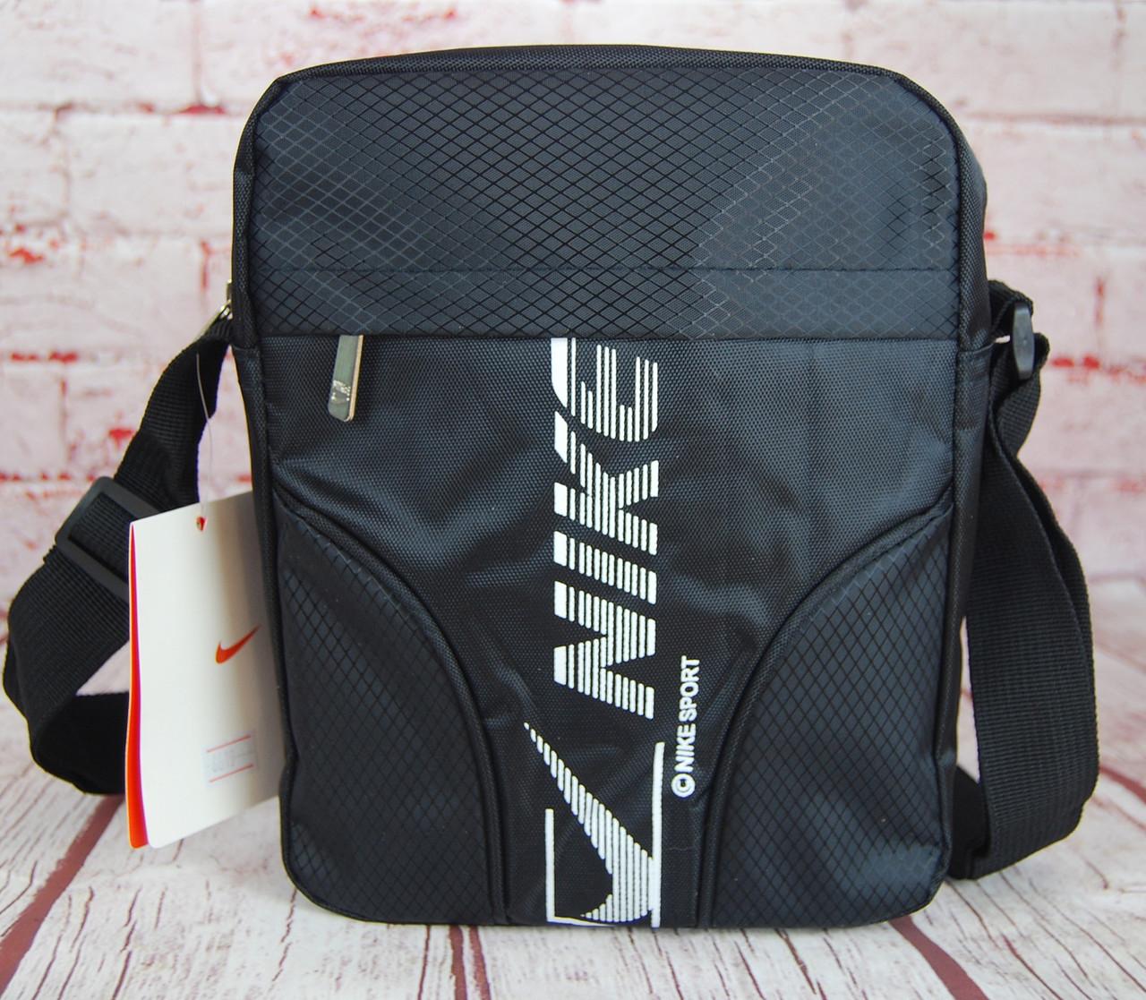 Спортивная сумка-барсетка через плечо Nike .Тканевая сумка. КС15