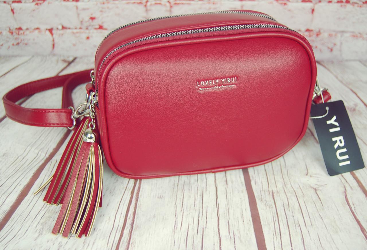 Женская сумка через плечо. Небольшая сумочка, клатч на 2 молнии. КС115-1