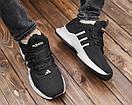 Мужские черные кроссовки Adidas, фото 3