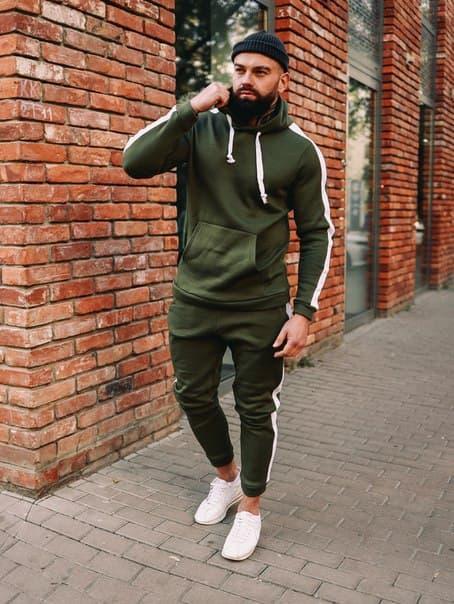 Зимний мужской спортивный костюм Asos, 6 цветов 46, Зеленый